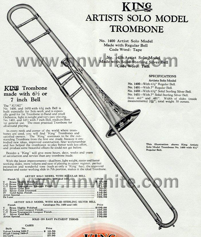 H N White Trombones
