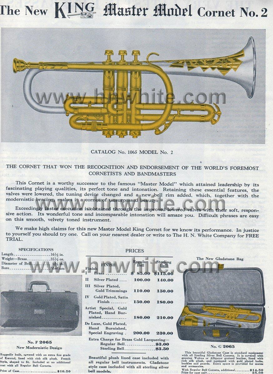 1946 H N White King Master Silvertone Model 1065 Pro Bb A